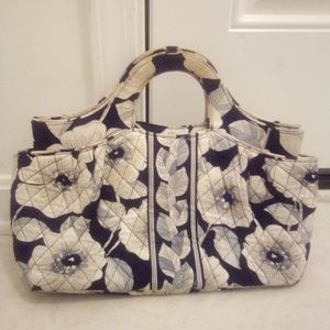 Vera Bradley black n white clutch bag